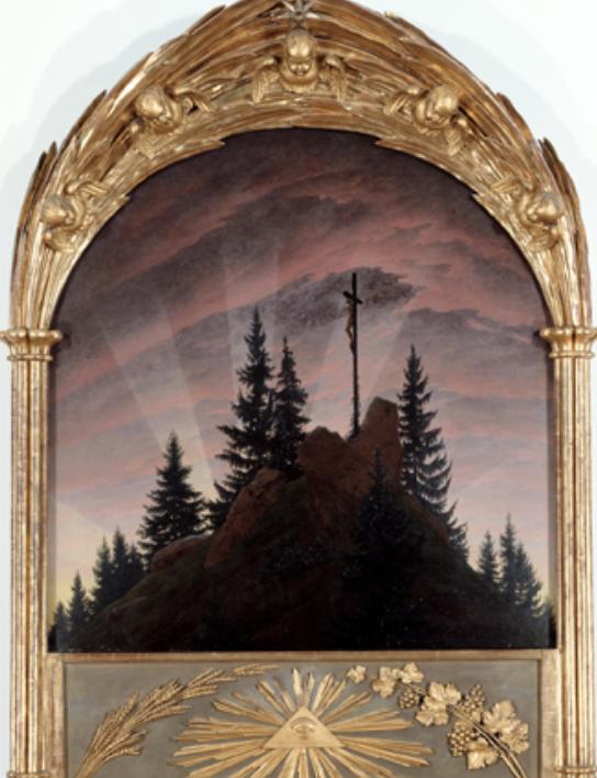 Abbildung 3: Tetschener Altar, Caspar David Friedrich, um 1807 https://de.wikipedia.org/wiki/Tetschener_Altar#/media/Datei:Friedrich_Tetschener_Altar_1808.jpg (Zugriff am 30.12.2020).